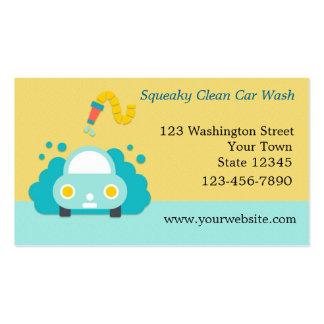 Lavagem de carros, detalhando cartão de visita