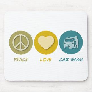 Lavagem de carros do amor da paz mouse pad