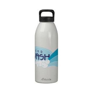 lavagem de carros garrafa de água esportiva