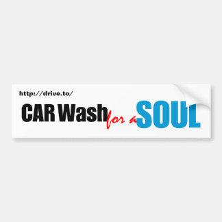 Lavagem de carros para uma alma adesivo para carro