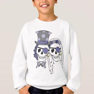 Lavanda dos crânios do pirata do casamento t-shirt