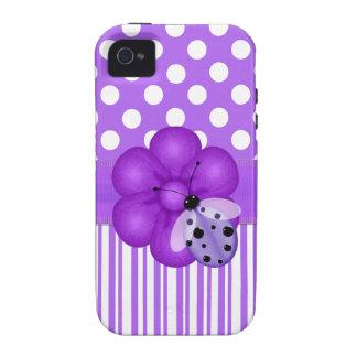 Lavanda e capas de iphone brancas de Girlie Capinhas Para iPhone 4/4S