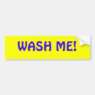 Lave-me! Adesivo Para Carro