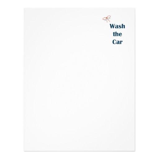 Lave os lembretes do carro panfletos
