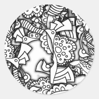 Layery Doodles a série Adesivo