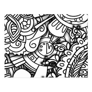Layery Doodles a série Cartão Postal