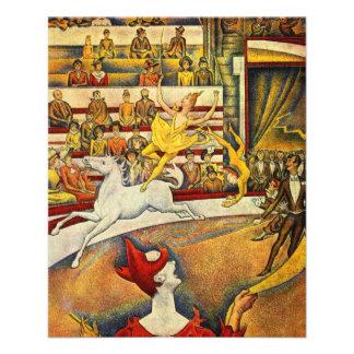 Le Cirque o circo por Georges Seurat Modelos De Panfleto