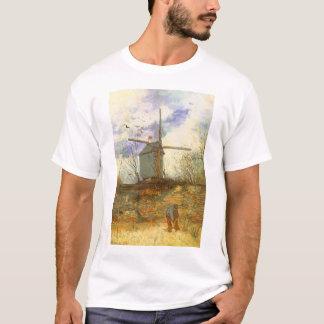 Le Moulin Galette por Vincent van Gogh, moinhos de Camiseta