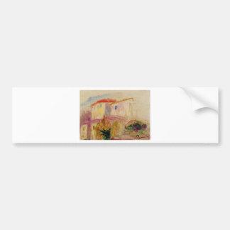 Le Postar em Cagnes (estudo) Pierre-Auguste Renoir Adesivo Para Carro