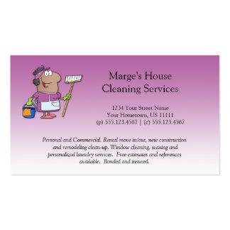 Lealdade cor-de-rosa do cliente da limpeza da casa cartões de visita