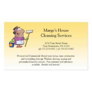 Lealdade da senhora de limpeza cliente da casa dos cartão de visita
