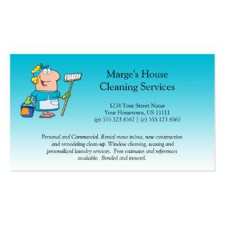 Lealdade do cliente da limpeza da casa da empregad modelo cartao de visita
