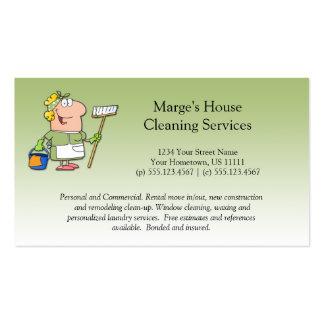 Lealdade verde do cliente da limpeza da casa da em modelos cartoes de visitas