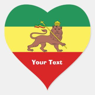 Leão da reggae de Rasta de Judah Adesivo Coração