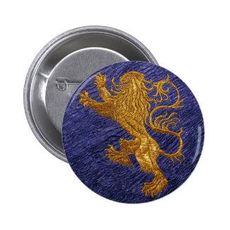 Leão desenfreado - ouro no azul boton
