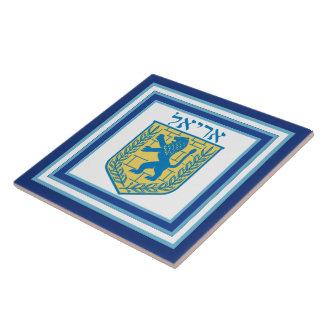 Leão do emblema Ariel de Judah Azulejo Quadrado Grande
