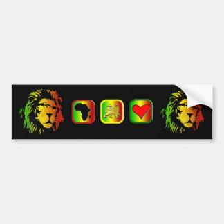 Leão do leão da reggae de Zion Judah Adesivo Para Carro