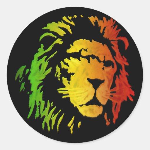 Leão do leão da reggae de Zion Judah Adesivos Em Formato Redondos