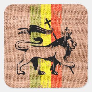 Leão do rei adesivo quadrado
