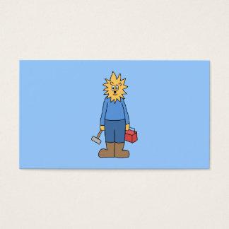 Leão do trabalhador da construção cartão de visitas