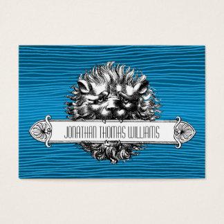 Leão do vintage & cartões de visitas superiores