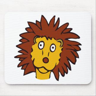 Leão engraçado mouse pad