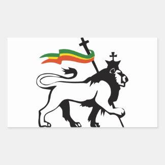 Leão reggae adesivo retangular