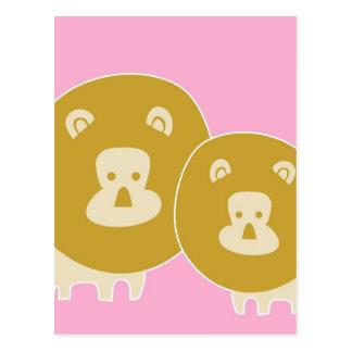 Leão - rosa cartão postal