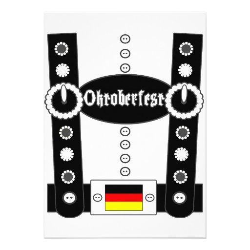 Lederhosen BW engraçado de Oktoberfest Convite