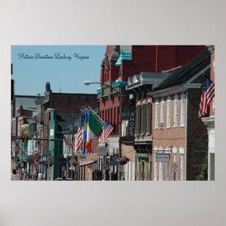 Leesburg histórico do centro, Virgínia Poster
