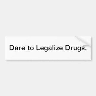 Legalize drogas - autocolante no vidro traseiro adesivos