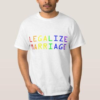 Legalize o casamento tshirts