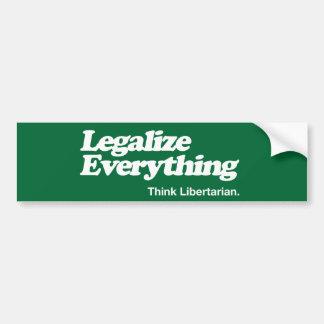 Legalize tudo pensam a vara do pára-choque do adesivo para carro