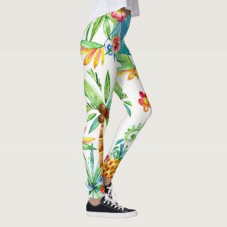 Legging 2 exóticos florais tropicais