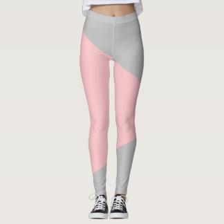 Legging Abstracto Recortar/Cinzento