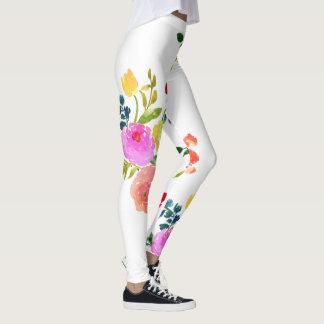 Legging Aguarela floral/ranúnculo/rosa de PixDezines
