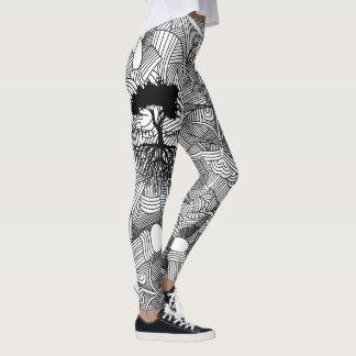 Legging Alinhador longitudinal abstrato enraizado