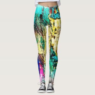 Legging Arte abstracta colorida do Wraparound