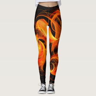 Legging Arte abstracta da bola de fogo