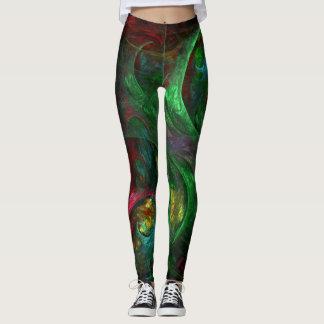 Legging Arte abstracta verde da génese