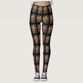Legging Arte escura da fantasia do horror do homem-lobo
