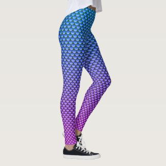 Legging Azul & roxo do ~ do estilo da sereia