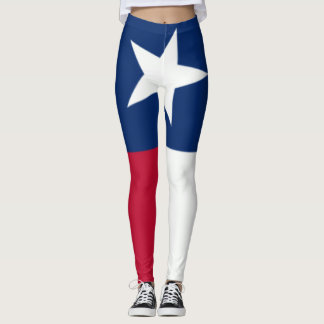 Legging Bandeira de Texas centro do sangramento de um