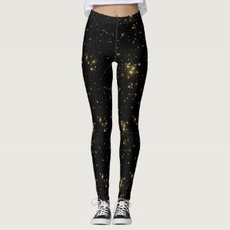 Legging Calças pretas da galáxia