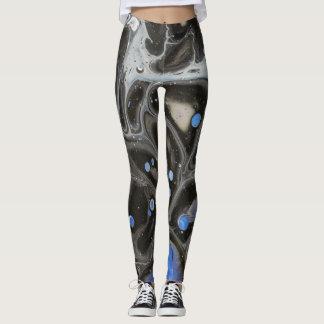 Legging Caneleiras azuis abstratas do espaço