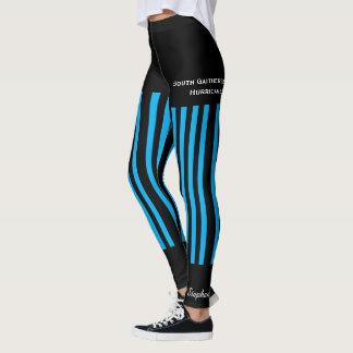 Legging Caneleiras azuis brilhantes da equipe/clube com