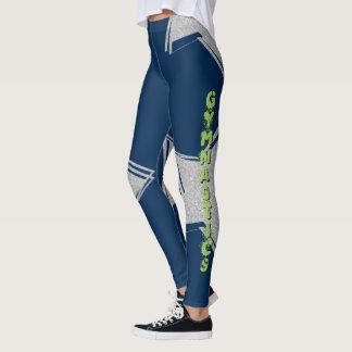 Legging Caneleiras azuis do teste padrão do design da