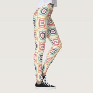 Legging Caneleiras coloridas retros do teste padrão