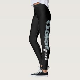 Legging Caneleiras corajosas pretas customizáveis da