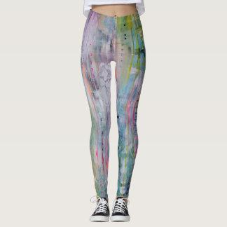 Legging Caneleiras da arte abstracta